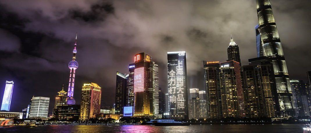 Die Skyline von Schanghai: Chinesische A-Aktien sind laut Umfrage unter Versicherern gefragt. |© Pixabay