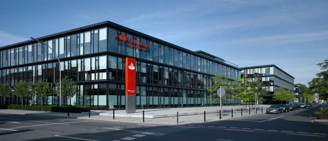Santander-Unternehmenszentrale in Mönchengladbach.|© Santander
