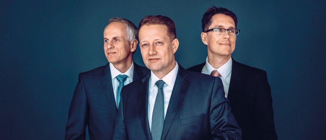 Christian Müller, Christian Mallek und Guido Hoheisel (von links), das Fondsmanager-Trio des Sigavest VV-Fonds.