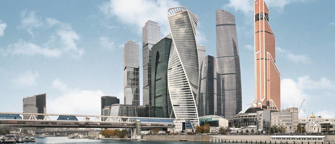 Das Schweizer Unternehmen Sika lieferte Kleb- und Dichtstoffe für die isolierte Fassade des Evolution Towers in Moskau (das verdrehte Haus): Das Unternehmen entwickelt neue Baustoffe, die die Umwelt schonen sollen © Sika