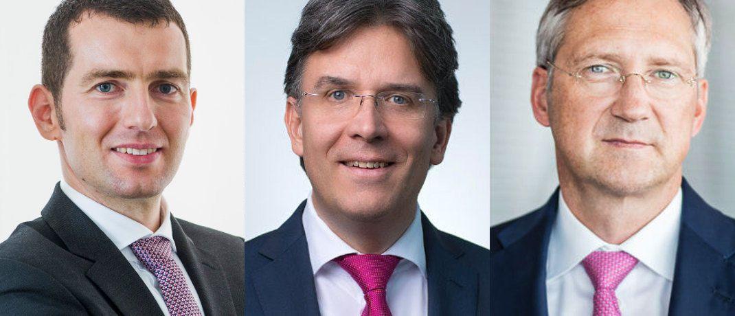 v.l.: Henrik Muhle, Frank Fischer und Bert Flossbach|© Gané, Shareholder Value, Flossbach von Storch
