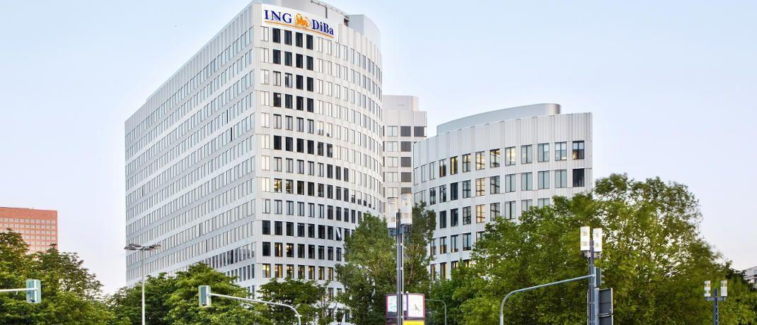 Hauptsitz der ING Diba in Frankfurt. Die Direktbank genießt laut dem Yougov Brand Index bei deutschen Verbrauchern unter allen Bankmarken das höchste Ansehen.|© ING Diba