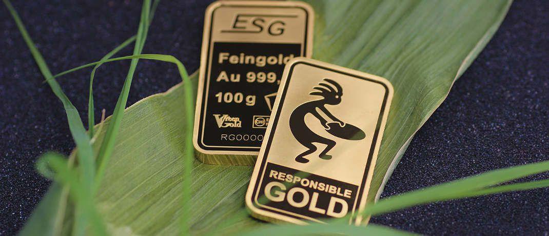Sauber geschürfte und fair gehandelte Goldbarren|© ESG Edelmetall Service