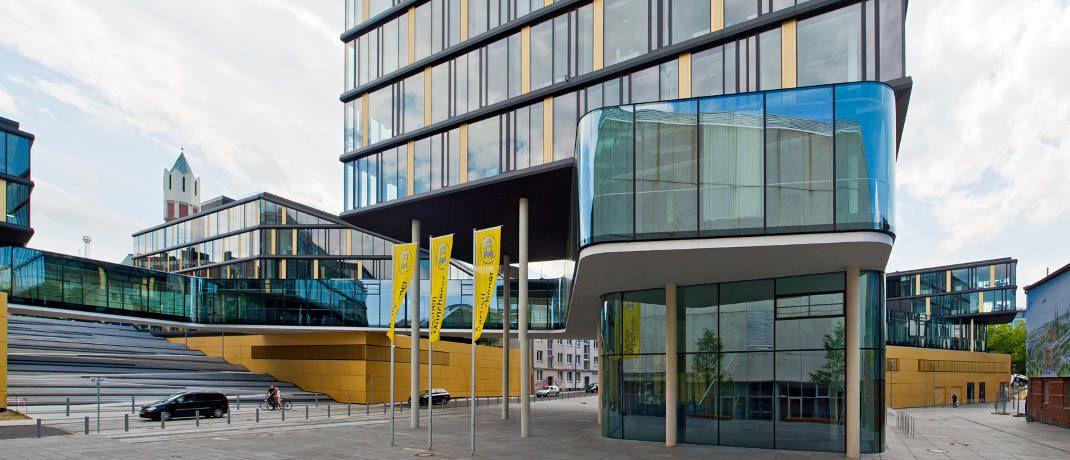 Direktionsgebäude der Aachen Münchener in Aachen: In der Kategorie Kundenberatung führt der Versicherer das Einzel-Ranking an.|© Aachen Münchener