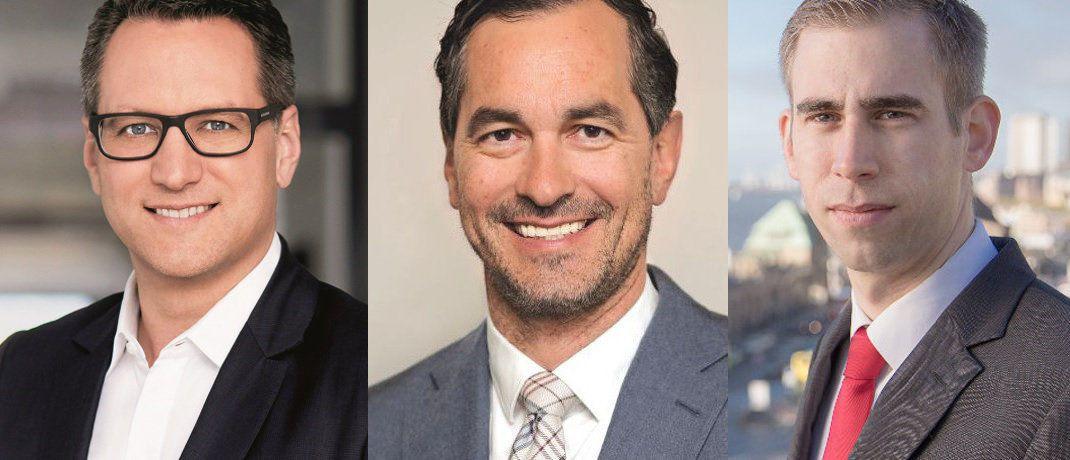 Sebastian Grabmaier von JDC, Martin Eberhard von Fondskonzept und Jens Reichow von der Kanzlei Jöhnke & Reichow: So beurteilen Branchenkenner den FinVermV-Entwurf.