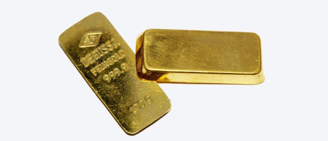Goldbarren: Historisch niedrige Positionierungen von Spekulanten am Goldmarkt deuten laut Stefan Wolpert auf eine große Sorglosigkeit der Anleger.|© Günther Richter / <a href='http://www.pixelio.de/' target='_blank'>pixelio.de</a>