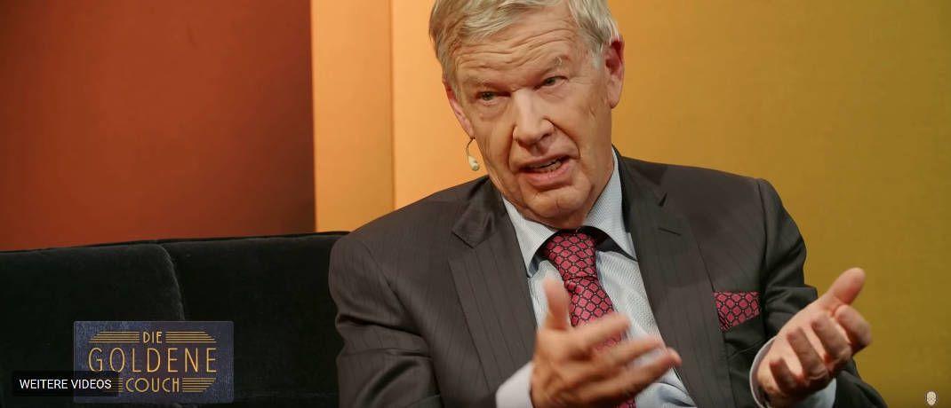 Jens Ehrhardt, Vorstandsvorsitzender der DJE Kapital|© Screenshot, DAS INVESTMENT