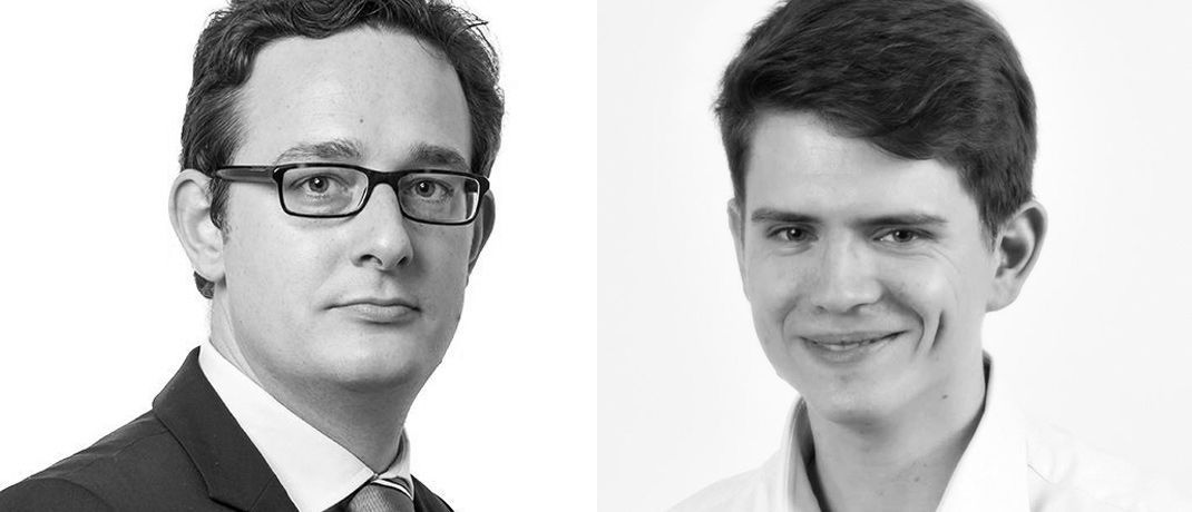 Philipp Sandner (links) und Benjamin Horvath sind Krypto-Experten der Frankfurt School of Finance | © Frankfurt School of Finance