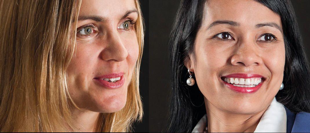 Caroline Maes (links) und Chantana Ward managen gemeinsam den Schwellenländer-Aktienfonds Comgest Growth Asia.|© Comgest