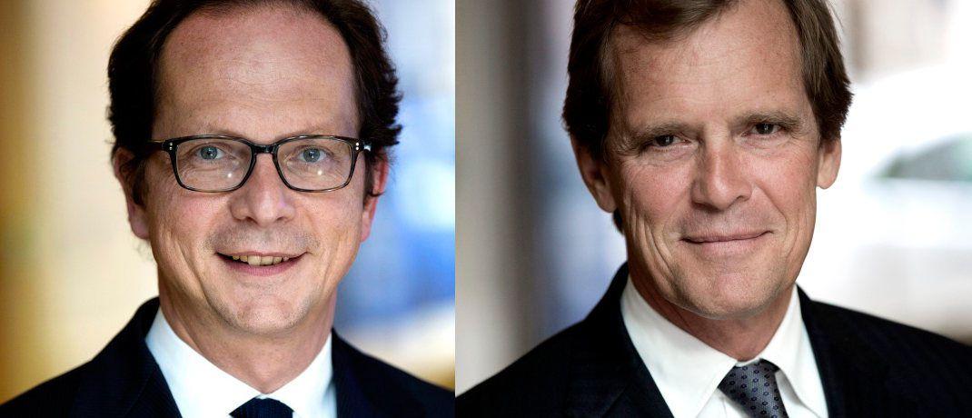 Olivier de Berranger (links) mit Didier Le Menestrel, La Financière de l'Echiquier. © LFDE