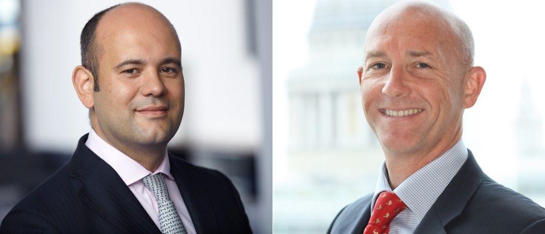 Carlos Böhles (l.), Leiter institutionelles Geschäft bei Schroders und Paul Forshaw, Global Head of Insurance Asset Management, Schroders