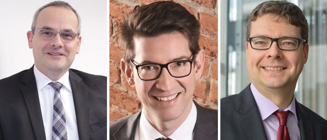 Alexander Schorn, Tilmann Gasser und Heino Kuhlmann rücken zum Jahreswechsel in die Geschäftsleitung der Helvetia auf.  |© Helvetia