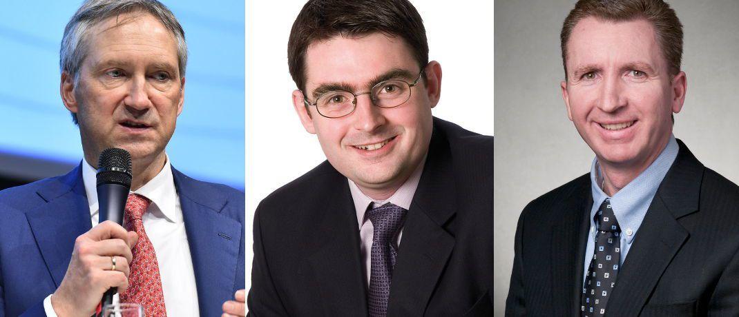 Bert Flossbach, Alasdair Ross, Paul Cloonan (v.l.)|© Sauren Fonds-Service, Threadneedle Investment, Pioneer Investments