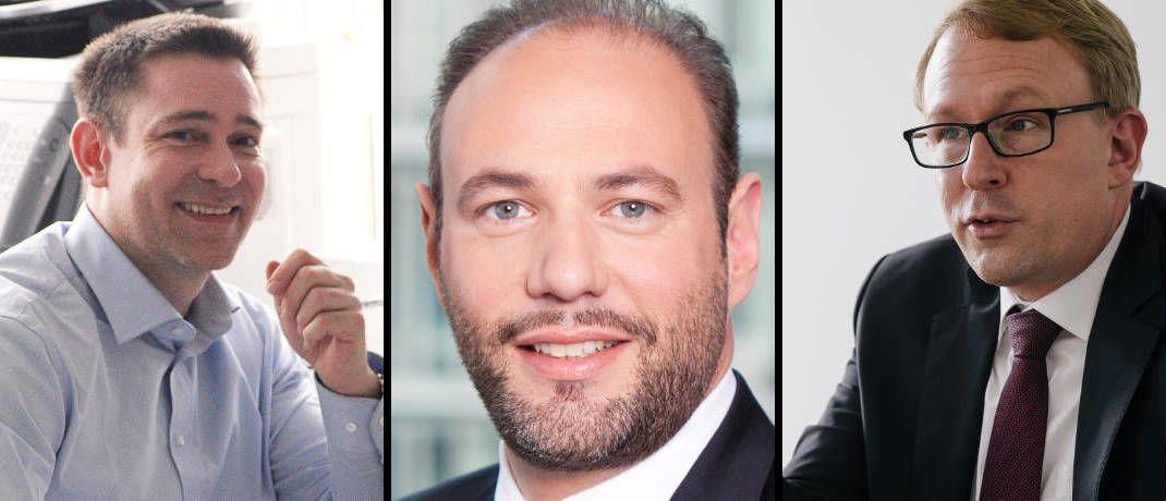 Gaben vielbeachtete Interviews (von links): Dominik Lochmann, Alexander Pfisterer-Junkert, Alexander Wagner