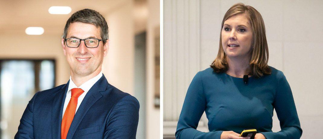 Tillmann Galler (l.) und Karen Ward, J.P. Morgan Asset Management: Die beiden Volkswirte analysieren die weltweiten Kapitalmärkte.|© J.P. Morgan Asset Management