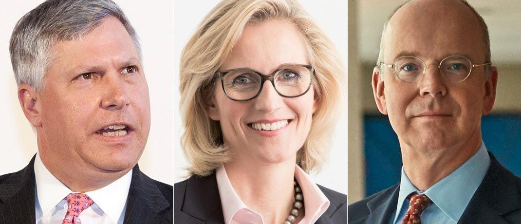 Tom Naratil (v.l.n.r.), Sabine Keller-Busse und Martin Blessing. |© UBS