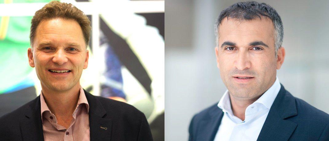 Stefan Waldhauser (l.) und Baki Irmak: Die Fondsinitiatoren berücksichtigen bei der Aktienauswahl neben digitalen Innovatoren und IT-Dienstleistern traditionelle Unternehmen mit starken Aktivitäten im Bereich Forschung und Entwicklung.
