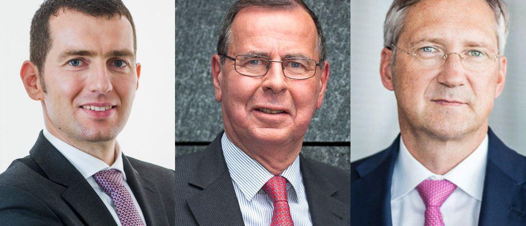 v.l.: Uwe Rathausky, Klaus Kaldemorgen, Bert Flossbach|© Gané, DWS, FvS