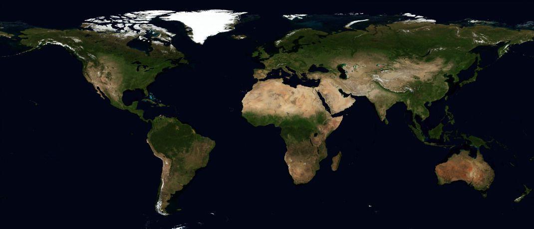 Weltkarte: Einer Umfrage unter internationalen Profianlegern zufolge dürfte die Weltwirtschaft im laufenden Jahr nicht mehr so schnell wachsen wie 2018.|© Pixabay