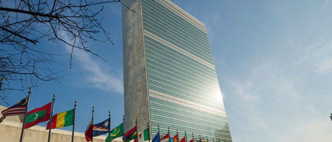 Das Sekretariatshochhaus ist das Markenzeichen des UN-Hauptquartiers in New York: Der Investmentmanager Sky Harbor nimmt am weltweiten Pakt Global Compact der Vereinten Nationen mit Unternehmen teil. |© UN Photo/Rick Bajornas