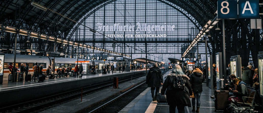 Hauptbahnhof Frankfurt: Für die deutsche Wirtschaft sieht es derzeit eher trüb aus.|© Sascha Hormel