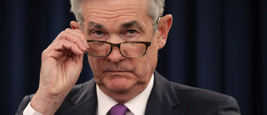 US-Notenbankchef Jerome Powell auf der Pressekonferenz am 30. Januar 2019 | © Getty Images