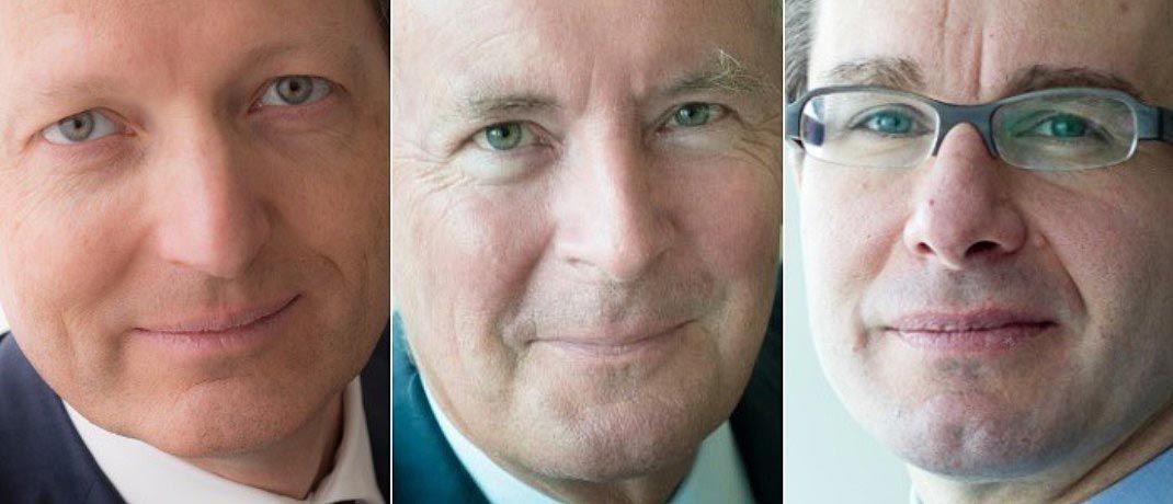 Renaud de Planta (l.), Nicolas Pictet (M.) und Sébastien Eisinger. |© Pictet