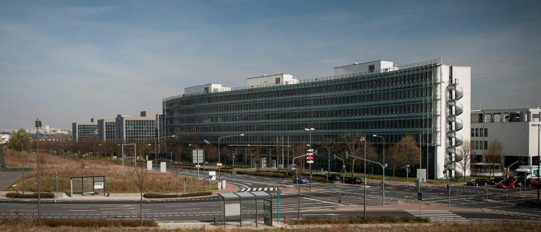 Bafin-Gebäude in Frankfurt am Main. Die deutsche Finanzaufsicht hat erstmals einen virtuellen Token als Wertpapier anerkannt.|© Bafin