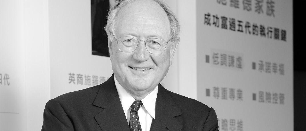 Bruno Schroder: Der Ur-Urenkel des Mitgründers John Henry Schroder war seit 1963 mitverantwortlich für die Geschäfte der heutigen Schroder Investment Management.|© Schroders