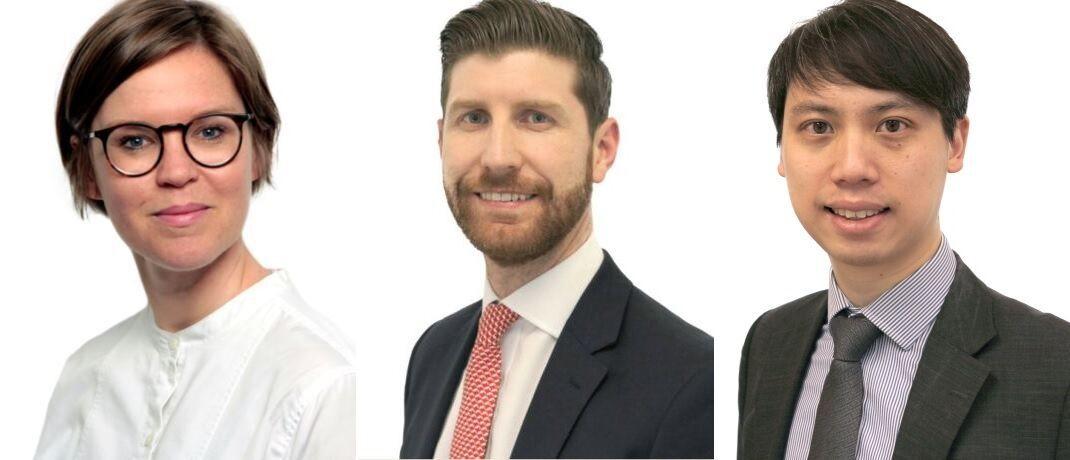 Das neue ESG Trio im BMO Responsible Investment Team (von links): Nina Roth, Alan Fitzpatrick and Derek Ip|© BMO Global Asset Management