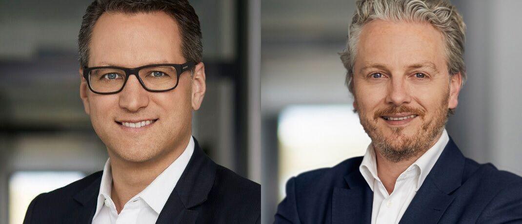 Sebastian Grabmaier (li.) und Ralph Konrad. Die JDC-Vorstände verkaufen eigene Anteile an JDC an die Finanzholding Great-West Lifeco.|© JDC