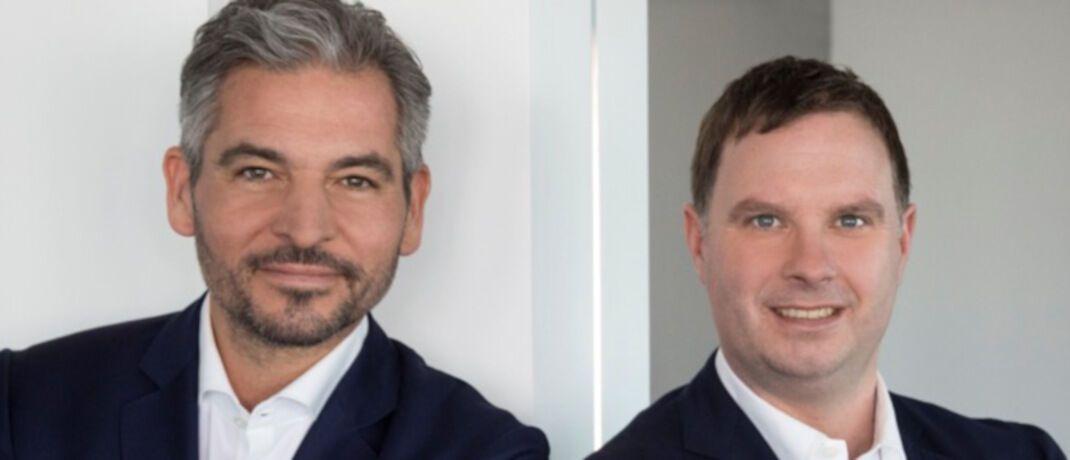 Plutos-Vorstände Michael Scholtis (links) und Kai Heinrich (rechts). Das Führungsduo hat bereits bei der Commerzbank zusammengearbeitet.|© Image-Consulting & Fotografie Antje Kern