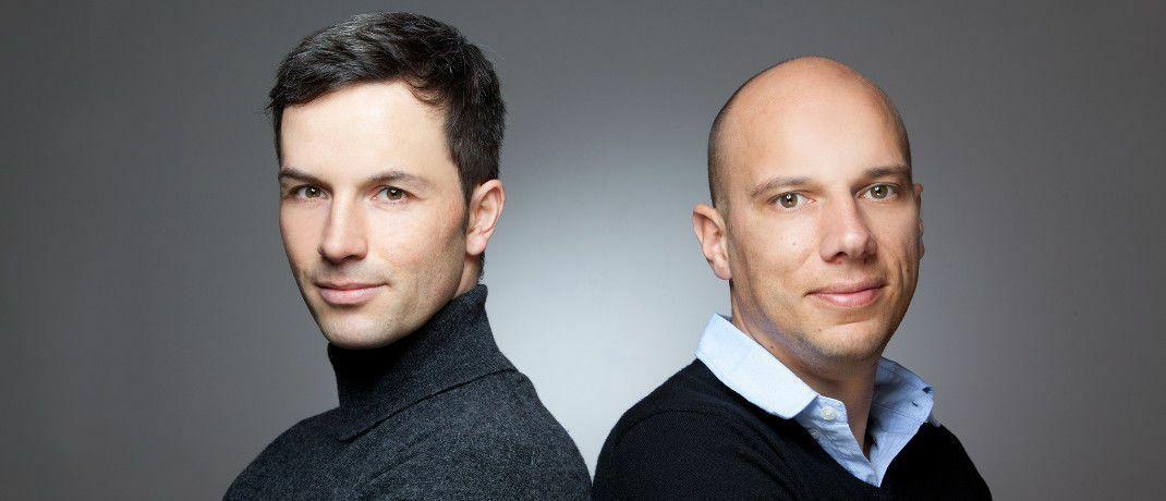 Analysieren, ob Silber das bessere Gold ist: Finanzberater Marc Friedrich (li.) und Matthias Weik|© Christian Stehle, Asperg