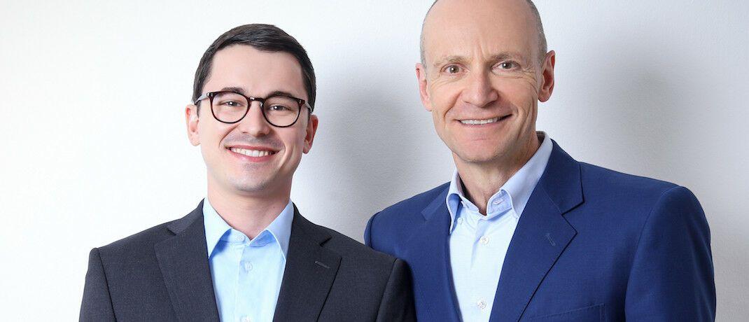 Alexander Weis (li.) und Gerd Kommer vom Finanzdienstleister Gerd Kommer Invest stellen vor, wie Factor Investing funktioniert.|© Gerd Kommer Invest