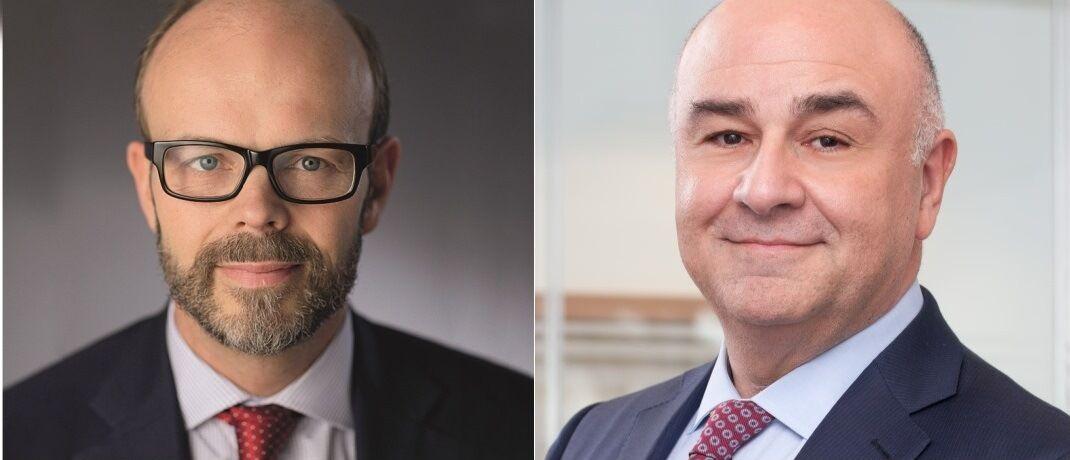 Der ehemalige GAM-Fondsmanager Tim Haywood (l.) und GAM-Chef David Jacob. |© Julius Bär/GAM