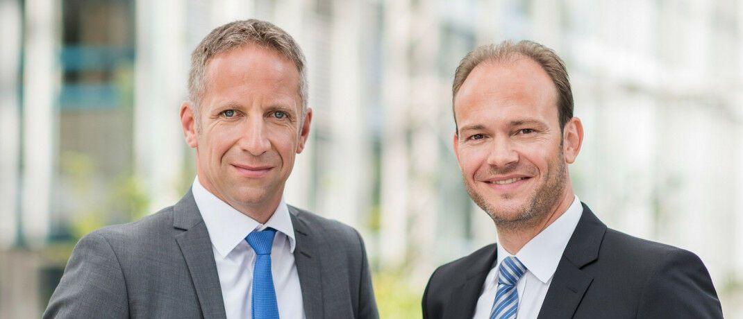 Norbert Porazik (links) und Markus Kiener, Geschäftsführende Gesellschafter des Maklerpools Fondsfinanz. |© Fonds Finanz Maklerservice