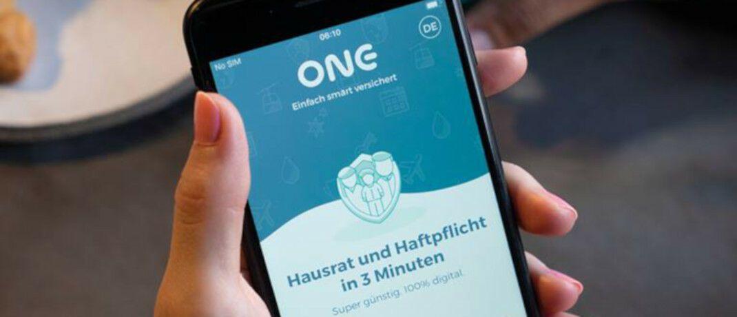 Ansicht der App des Digitalversicherer One. |© One Versicherung