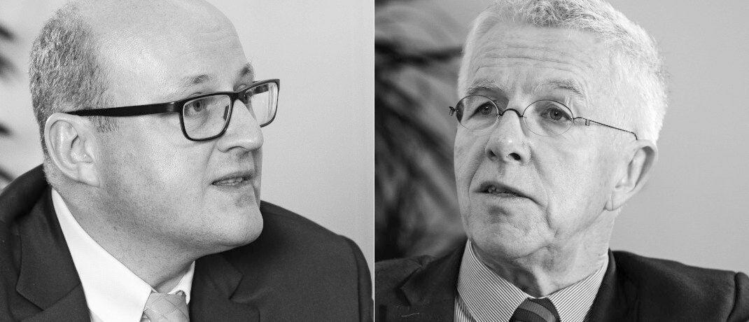 Dr. Götz Albert, Managing Partner und Anlagechef von Lupus alpha (li.), im Interview mit Dr. Thomas Straubhaar, Professor für Internationale Wirtschaftsbeziehungen an der Uni Hamburg.|© Markus Kirchgessner
