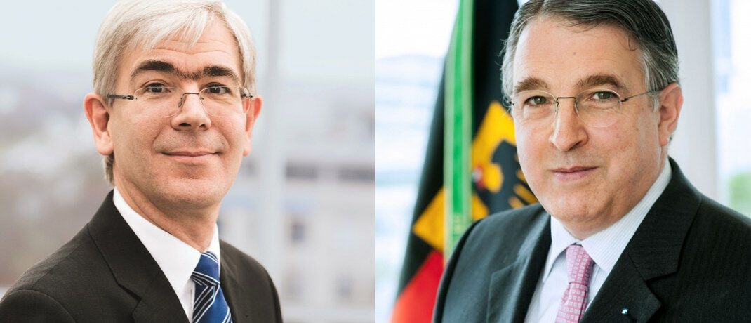 Strategische Partner: VPV-Vorstandsvorsitzender Ulrich Gauß (l.) und DFV-Gründer Stefan M. Knoll.|© Sebastian Berger, DFV AG