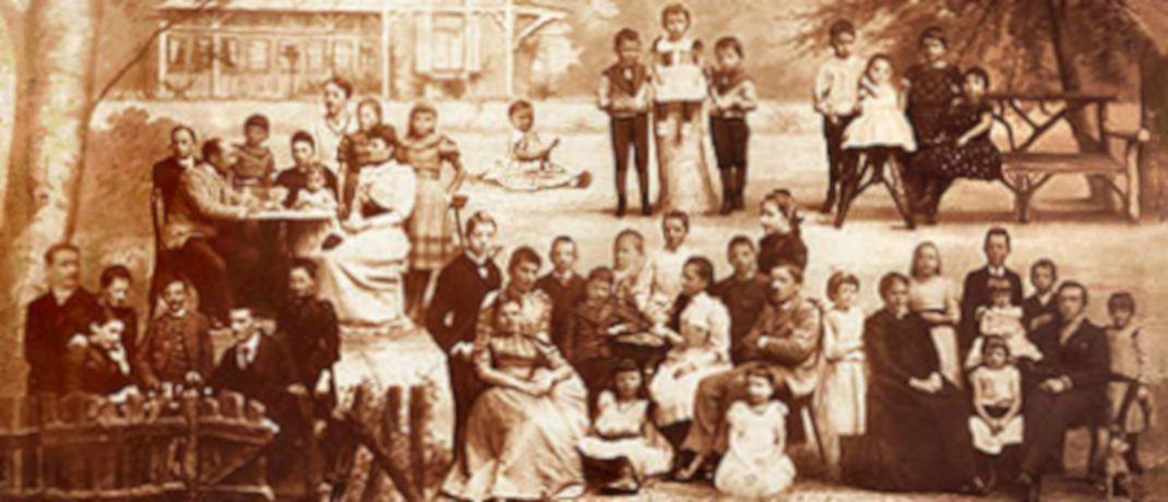Historische Darstellung der Familie Prym. Das gleichnamige Unternehmen belegt in einem aktuellen Ranking der 30 ältesten deutschen Familienfirmen Rang 2. |© Prym
