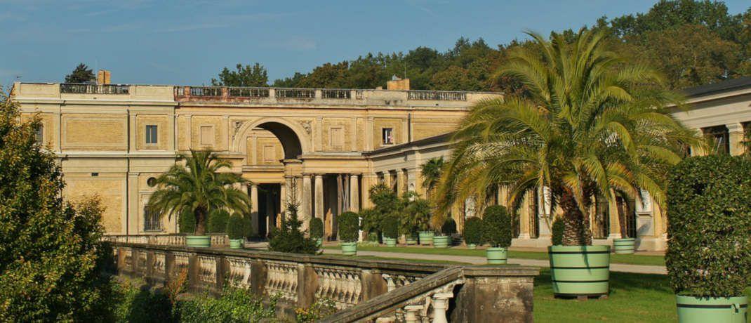 Orangerie am Schloss Sanscoussi in Potsdam. Die Stadt bietet bei einem mit den A-Städten vergleichbaren Risiko mit 3,8 Prozent eine deutlich höhere durchschnittliche Spitzenrendite.