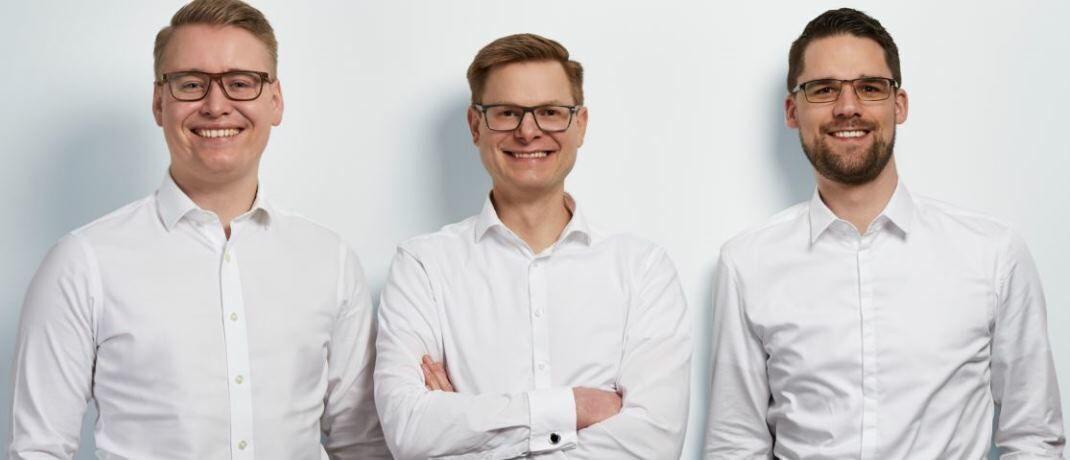 Finexity-Gründertrio (von l.): Paul Hülsmann, Henning Wagner und Tim Janssen|© Finexity