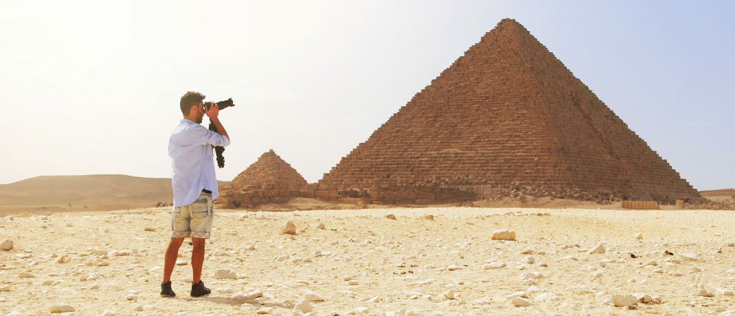 Tourist: Wer beispielsweise einen Urlaub in Ägypten plant, sollte vor dem Abschluss einer Reiserücktrittsversicherung genau informieren.|© The World Hopper