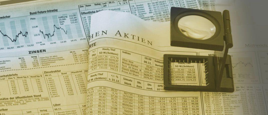 Aktienkurse: Bei der Altersvorsorge spielen Aktien in anderen Ländern eine wesentlich wichtigere Rolle als in Deutschland.|© Rainer Sturm / <a href='http://www.pixelio.de/' target='_blank'>pixelio.de</a>