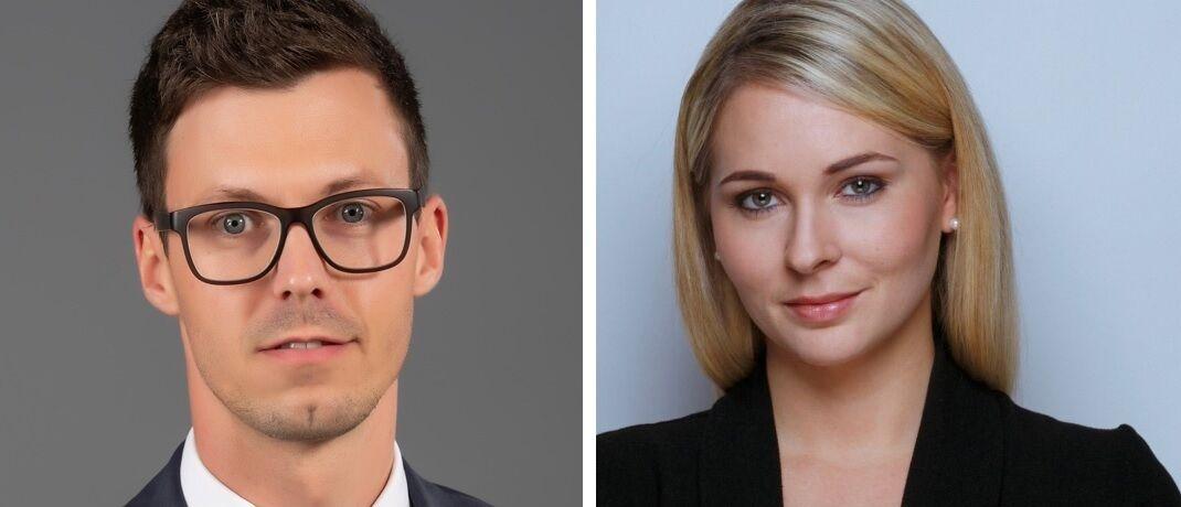Sebastian Haimerl und Daria Lebert, die beiden Neuzugänge bei Flossbach von Storch