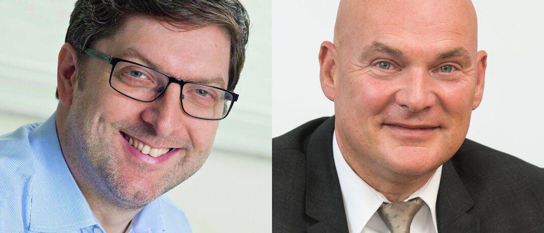 Matthias Brauch (l.) und Peter Schneider: Die Geschäftsführer von Softfair beziehungsweise Morgen & Morgen leiten den neuen Software-Dienstleister Prov Con.|© Fonds Finanz, Morgen & Morgen