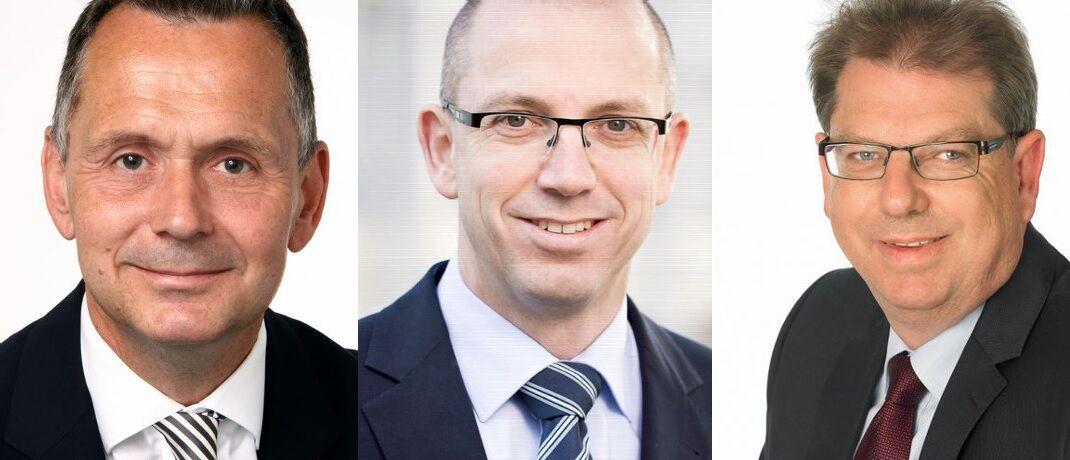 Frank Wieser von PMP Vermögensmanagement, Markus Steinbeis von Steinbeis & Häcker und Wolfgang Juds von Credo Vermögensmanagement (v. l.): Drei der Vermögensverwalter, die hier die Situation für Anleger einschätzen.