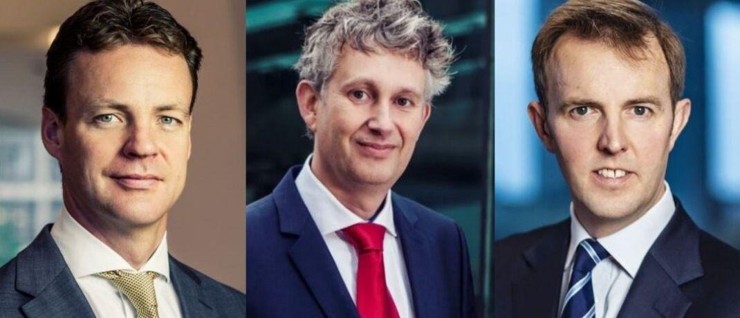 """Robeco-Experten (von l.)  Victor Verberk, Sander Bus und Jamie Stuttard: """"Die Risiken sind am Markt für Unternehmensanleihen noch nicht eingepreist."""""""