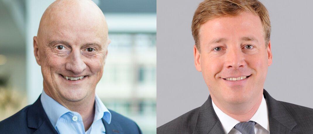 Dietmar Schöne (l.) und Ulrich Hilp: Die R+V ordnet ihr Geschäft über unabhängige Vermittler neu.|© R+V Allgemeine Versicherung AG