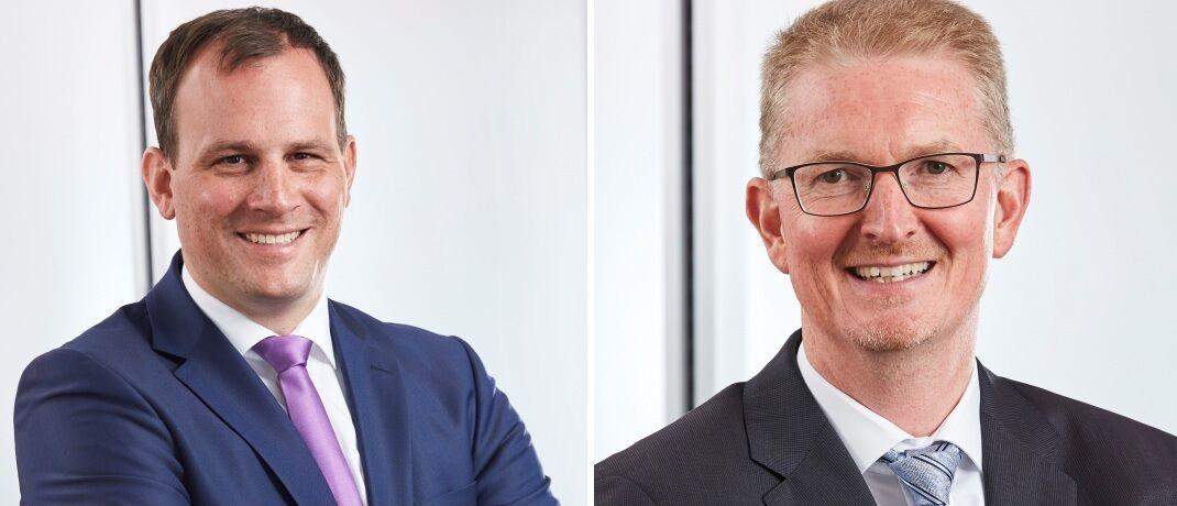 Wilhelm Wildschütz (re.) ist neuer Co-Manager des Fonds Flossbach von Storch Der erste Schritt. Frank Lipowski (li.) konzentriert sich künftig auf den Rentenfonds Flossbach von Storch Bond Opportunities